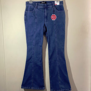 Express NWT High Rise Bell Flare Jeans SZ 14R